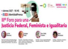 III Foro para una Justicia Federal, Feminista e Igualitaria